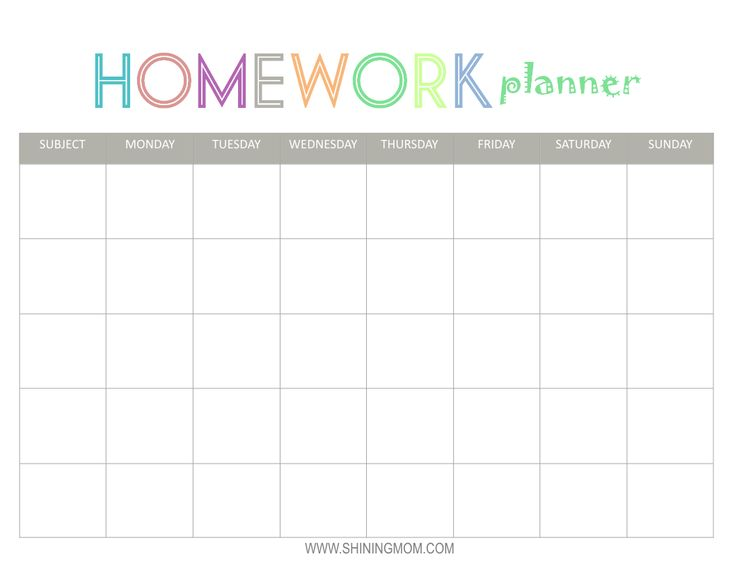 The 25+ best Homework planner printable ideas on Pinterest ...