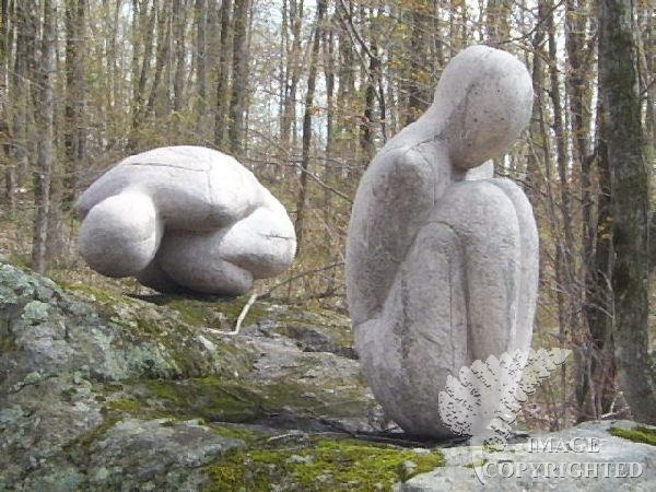 Curled Figures by Susan Low Beer    Found in the Sculpture Forest in Haliburton, Ontario