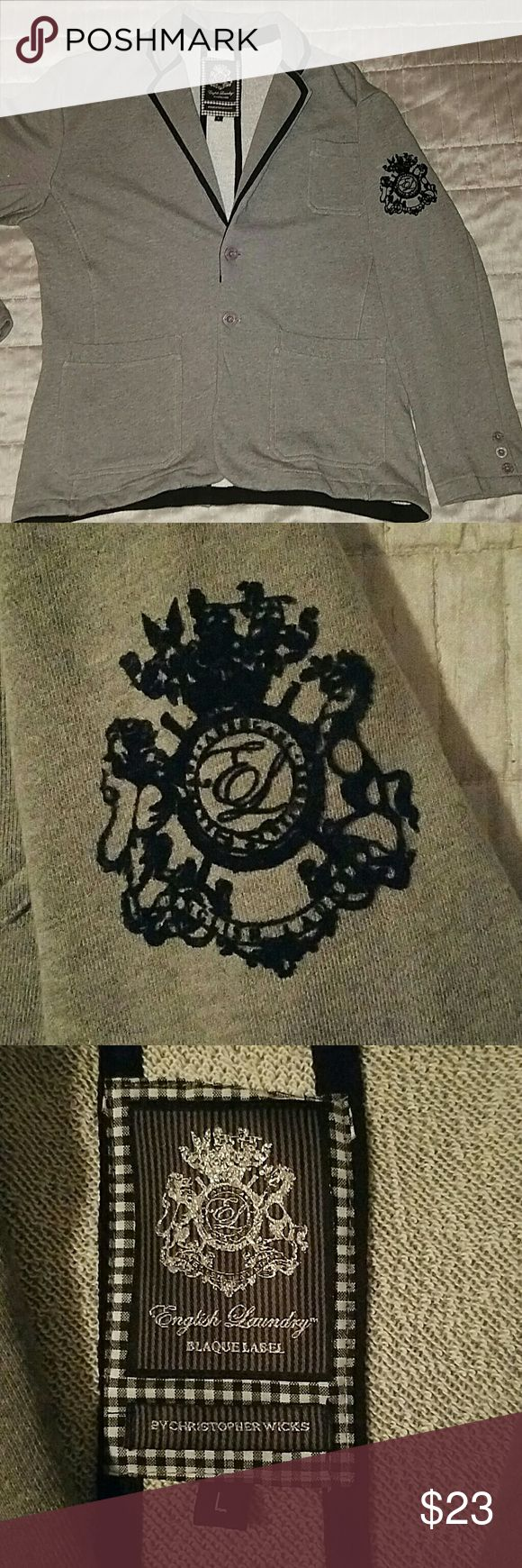 English Laundry Blaque Label Casual Jacket English Laundry Blaque Label casual jacket- cotton material.  Designed by Christopher Wicks.    Give your wardrobe a Collegiate appeal. Jacket has never been worn. English Laundry Jackets & Coats Lightweight & Shirt Jackets
