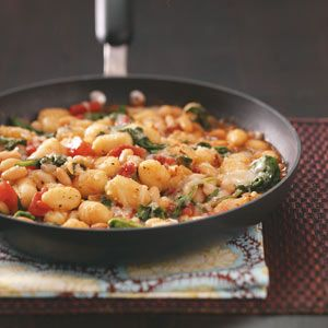 Gnocchi with white beans recipe- healthy dinner