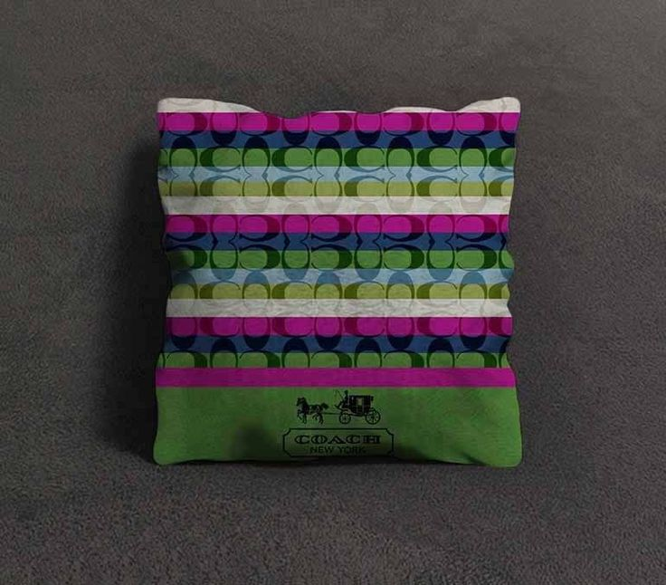 """Hot Rare Coach Green Pattern Custom Pillow Case 18""""x18"""" Limited Design #Unbranded #pillowcase #pillowcover #cushioncase #cushioncover #best #new #trending #rare #hot #cheap #bestselling #bestquality #home #decor #bed #bedding #polyester #fashion #style #elegant #awesome #luxury  #coach #rainbow"""