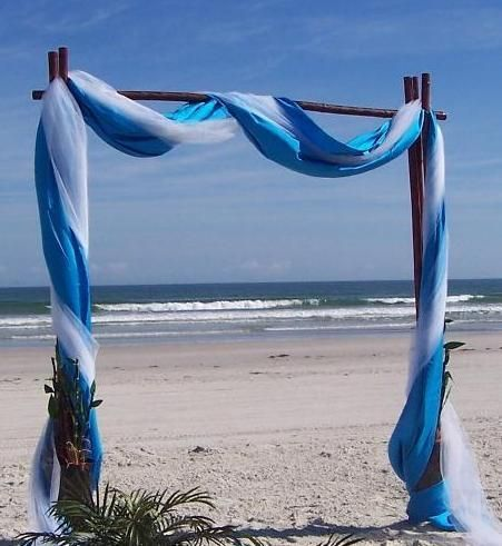 beach wedding canopy multi coloured fabrics - Multi Canopy Decor