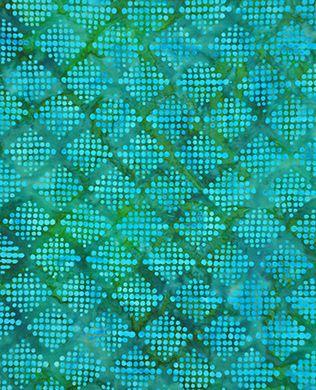 4501-14 Teal Spots   Moda Fabric   Montego Batiks   Fifi's Fabricology