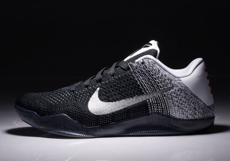 First look at the Nike Kobe 11 Black/White, a bold yet simple style on  Beef's latest. Solid-black Flyknit gradually gives way to white through the  .