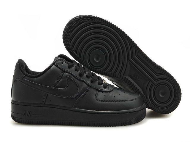 Men Air Force 1 25th Low Shoes All Black Nuktr291