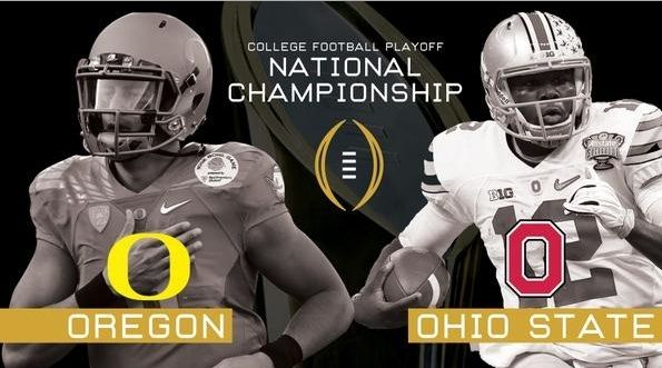 Watch CFP championship 2015 Playoffs : Ohio State vs Oregon College football live online Hello every body Are you waiting for CFP championship 2015 Playoffs very exacting final match Oregon ducks vs. Ohio State buckeyes 2015 CFP National Championship Live, If you are miss tha venueAT&T Stadium ticket don't worry  You can watch this match in your won place from windows, ipad, i tab, laptop, PC, Tablet,Macintosh, MacOSX, Android- Linux  and Any Device in Any