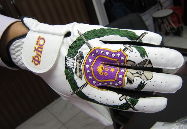 Omega Psi Phi Fraternity Golf Items