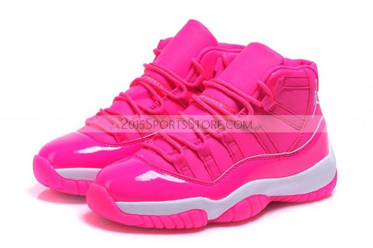 2015 nike air 11 xi retro pink white basketball