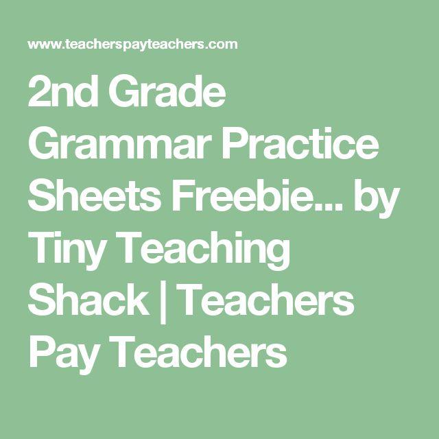2nd Grade Grammar Practice Sheets Freebie... by Tiny Teaching Shack   Teachers Pay Teachers