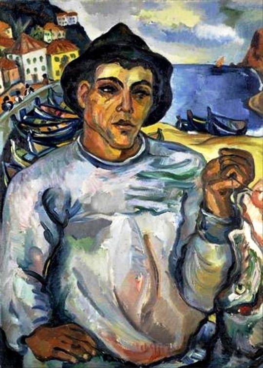 Irma Stern - Fisherman, Madeira, 1931