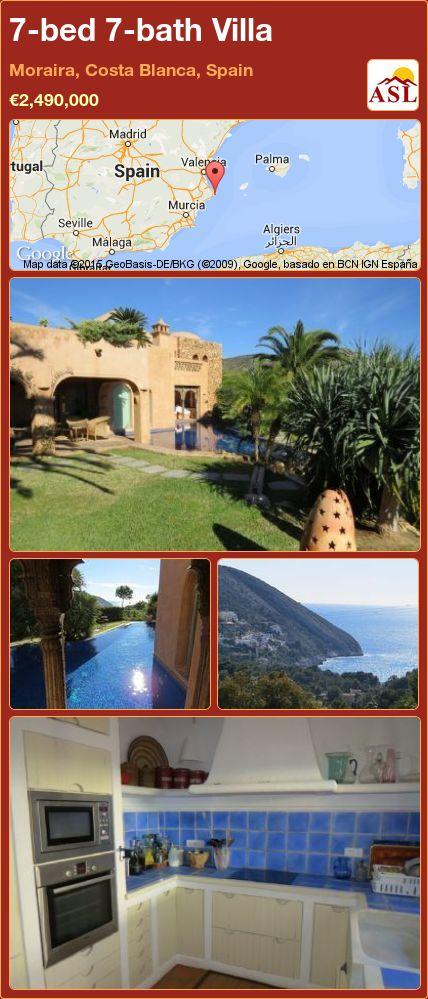 7-bed 7-bath Villa in Moraira, Costa Blanca, Spain ►€2,490,000 #PropertyForSaleInSpain