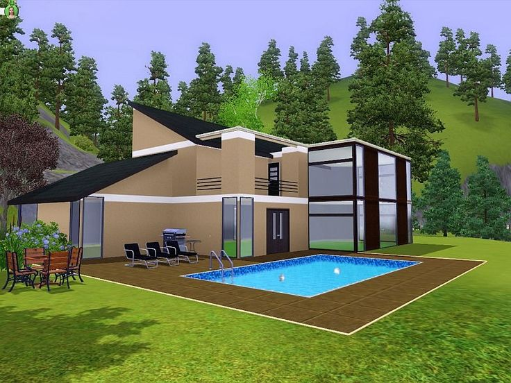 Casa moderna the sims 3 case the sims 3 pinterest for Case the sims 3 arredate
