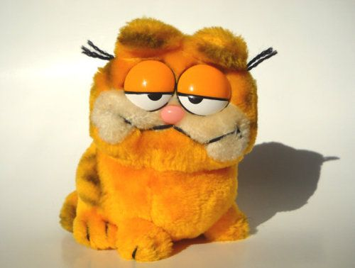 Toys of the '80s my ex boyfriend zack loved garfield and my eldest lad kris was given one of these plush toys for being so well behaved in the hair dressers