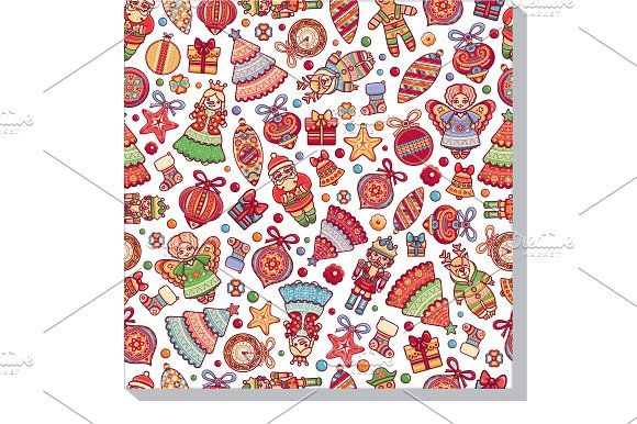 Christmas Seamless pattern. by Zoya Miller on @creativemarket