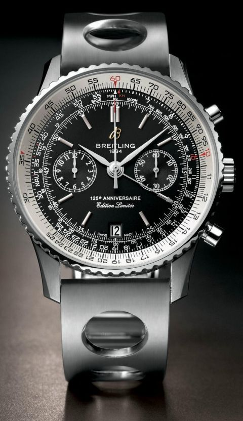 Breitling Navitimer 125th Anniversary COSC-certified chronograph watch | Breitling Navitimer 125th Anniversary chronograph specification Price range: Around $7000 for a model in a stainless steel case Movement: Caliber B26, based on ETA 2892-A2, automatic, COSC-certified chronometer, Swiss Made Complications: Chronograph, date Power reserve: 42 hours Case material: Stainless steel, 18kt rose gold Case dimensions: 43.00 mm Case height: No data Dial: Black, bronze or silver