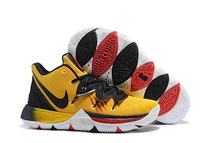 5cc36860568 Mens Nike Kyrie 5 Bruce Lee Mamba Mentality Tour Yellow Black-1 ...