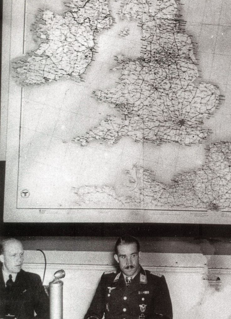 Adolf Galland map wall