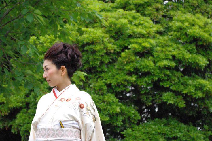 Unreleased photo for my kimono photo and essay お洒落きものイズム