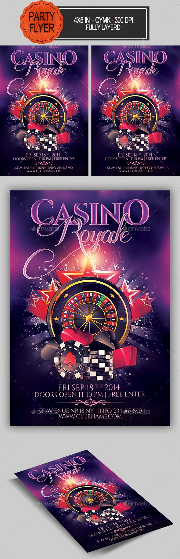 Casino Flyer - Clubs & Parties Events