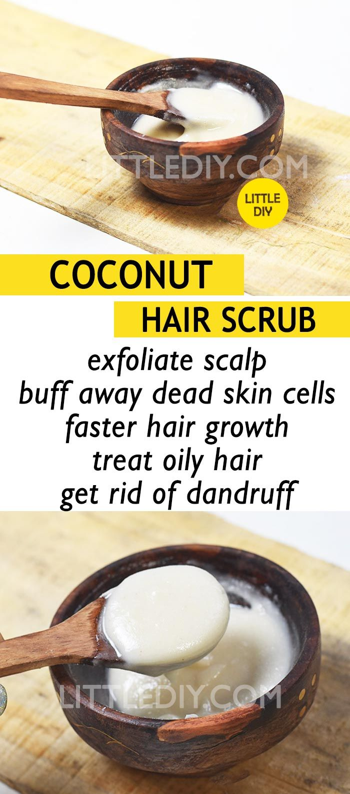 COCONUT SCALP SCRUB TO PROMOTE HAIR GROWTH