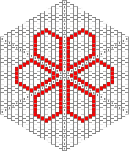 344 best Graph paper images on Pinterest Patterns, Tutorials and - hexagon graph paper