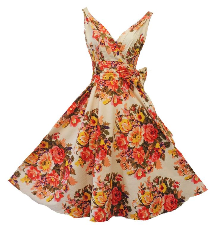 "New Rosa Rosa Vtg 1940s 1950s Spring Floral ""English Rose"" Summer Dress UK 16 #RosaRosa"
