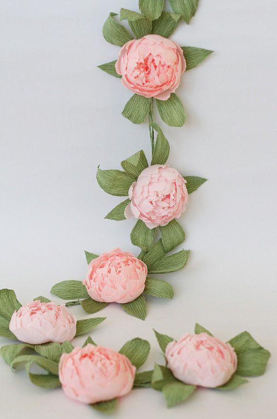 Peonie di ghirlanda nuziale matrimonio di FlowerDecoration su Etsy