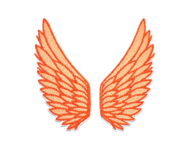 Little Angel wings Iron On  Applique Embroidered Patches Machine Embroidery Design for Angel wings -lover