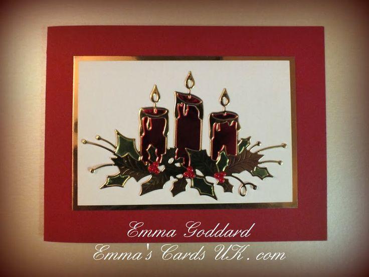 Glowing candles Memory Box die | Memory box dies 2 ...