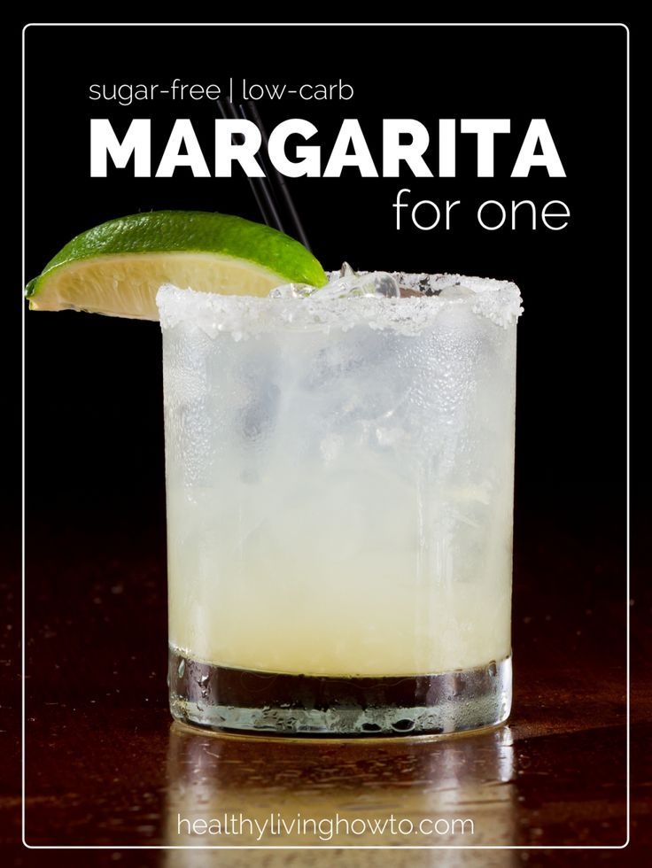 Sugar-Free Low-Carb Margarita For One   healthylivinghowto.com