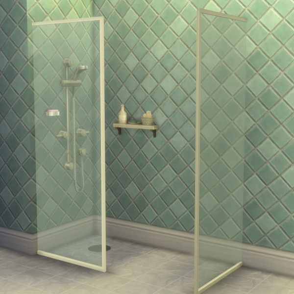 Mod The Sims: Build-a-Shower Kit by Madhox • Sims 4 Downloads