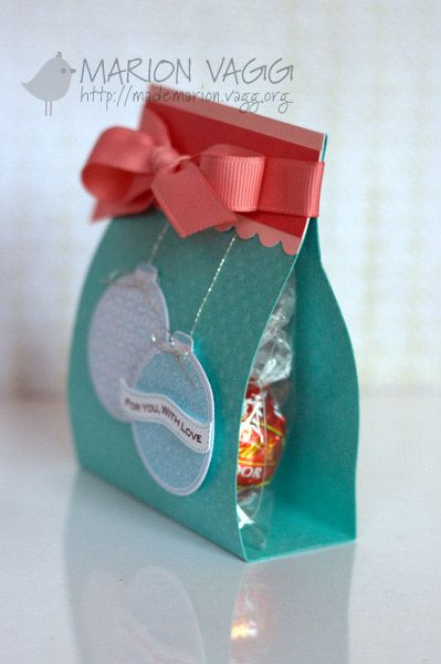 Christmas Treat Bag -just a cello bag, card and topper....must check my printables