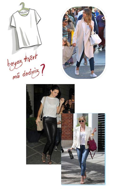 Klasik Beyaz Tişört Giymenin 3 Yolu: Hollywood Tarzı @refinery29 #stililhamı #beyaztişört #whitetshirt
