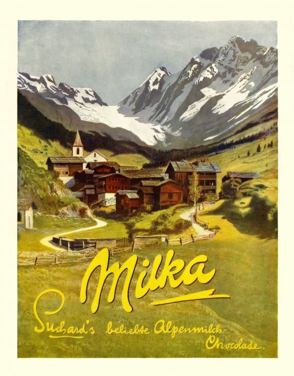 Milka Suchard Popular Alpine Milk Chocolate. 1920 GERMAN ...