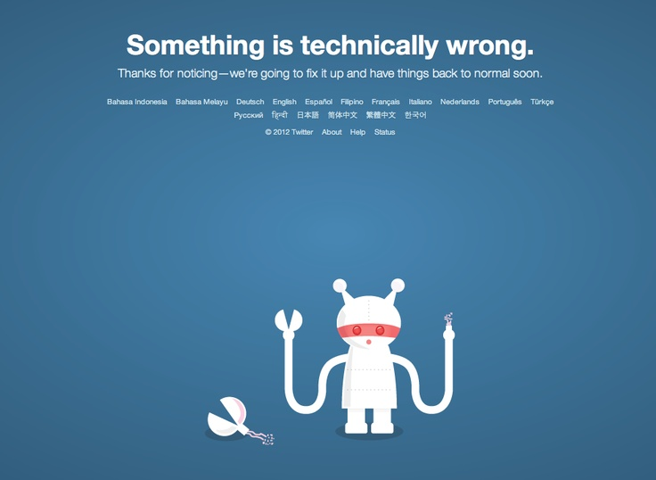 Error Page from Twitter
