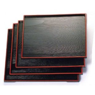 Serving Tray      Availability : In Stock     Dimentions : 386mm x 297mm     Pieces Per Item : 1     Colour : Red & Black     Material : ABS     Finish : Laquer     Item Code : D5-903     Weight : 500g  Price : $11.95