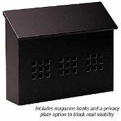 Traditional Mailboxes - Decorative Horizontal - Black