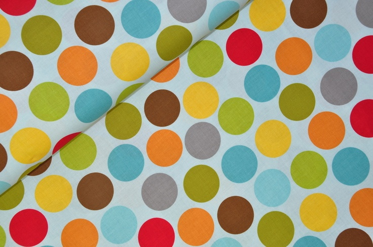 Toller Stoff mit diesen schönen großen Punkten auf hellblauem Grund. Die Punkte haben einen Durchmesser von 3,7 cm.   Design: BELLA BLVD    Jetzt komm