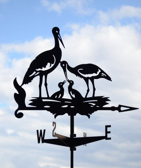 Hey, I found this really awesome Etsy listing at https://www.etsy.com/listing/271875876/stork-metal-weathervane-roof-mount