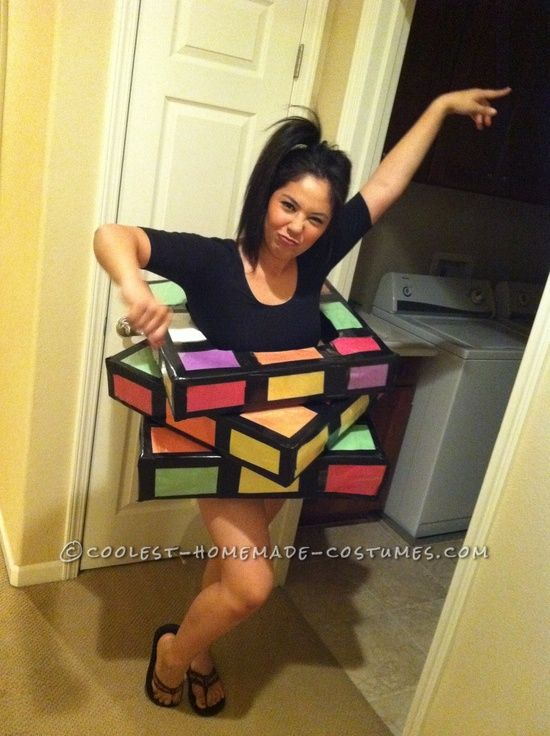 great last minute rubiks cube costume awesome halloween costumeshomemade - Homemade Halloween Costume For Girls