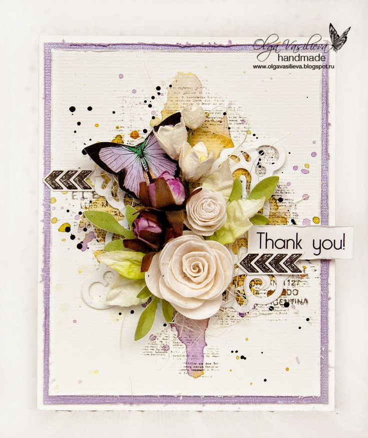 Sizzix Card Making Ideas Part - 46: Crafting Ideas From Sizzix UK: A Thank You Card By Olga