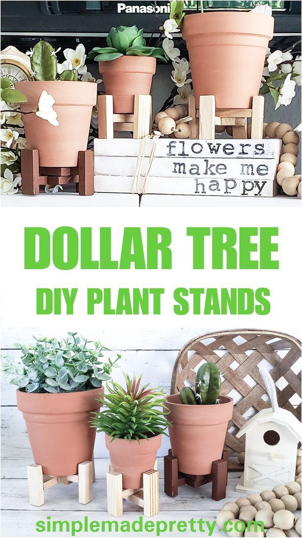 DIY Dollar Tree Plant Stands, #Diy #diygardendecordollarstoresplanters #dollar #Plant #Stand…