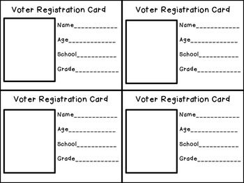 Here is a voter registration card...it will go great with my Election Unit...sorry I forgot to add it to the packet!! :)Jen