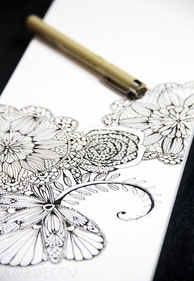a peek inside my sketchbook- lace inspired