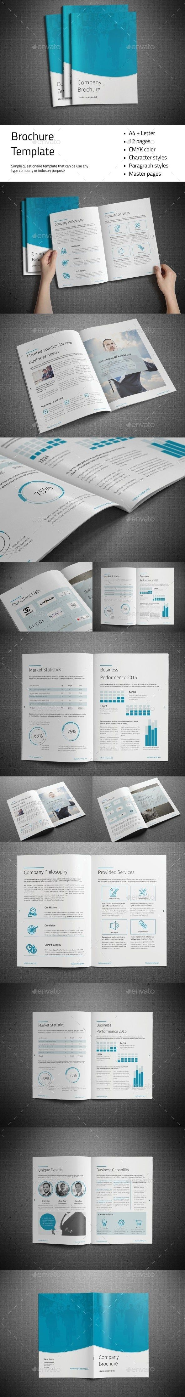 Company Brochure Template InDesign INDD design Download