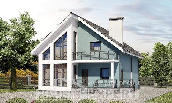 170-006-R Two Story House Plans and mansard, available Blueprints