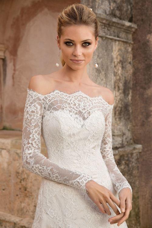 vestidos de novia justin alexander 2019: sensualidad y elegancia