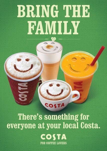 Morning, coffee lovers! :) Costa Coffee #Advertising