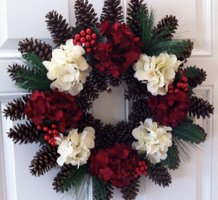 Pine Cone Wreath Christmas Wreath Flower Wreath