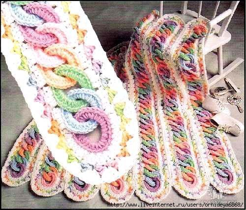 Crochet Rainbow Chains Mile a minute Afghan